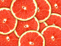 Background With Citrus-fruit Of Grapefruit Slices Stock Images - 17461994