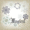 Snow Background - Magical Stock Images - 17474664