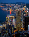 Victoria Harbour Night Scene From High Angle Stock Image - 17480631