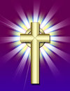 Golden Cross Stock Photo - 1758180