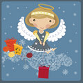 Angel With A Gift Royalty Free Stock Image - 17508956