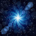 Dark Blue Background With Big Twirl Star. Royalty Free Stock Photography - 17518537