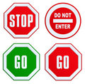 Set Of STOP, GO, DO NOT ENTER Sign Stock Photo - 17538020