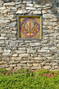 The Rock Wall Bhutan Ornament Royalty Free Stock Images - 17538989