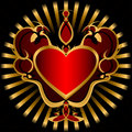 Dark Red Heart. Royalty Free Stock Photography - 17556777