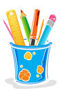 Pens And Pencils In Box Royalty Free Stock Image - 17558286