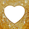 Gold Frame In The Shape Of Heart. EPS 8 Stock Images - 17570854