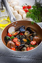 Casserole With Mollusk Stock Image - 17585411
