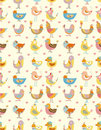 Seamless Bird Pattern Royalty Free Stock Image - 17598506