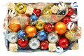 Set Of Multi-coloured Celebratory Ornaments And Ribbons Royalty Free Stock Image - 1767096