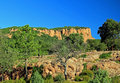 Red Rock Cliffs Above The Gorges Du Blavet 050 Royalty Free Stock Photos - 17601728