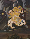 Masterpiece Of Traditional Thai Style Painting Art Royalty Free Stock Photo - 17607245