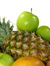 Pineapple And Green Apples Isolated Stock Photography - 17611862