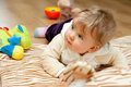 Baby Girl With Toys Royalty Free Stock Photos - 17628388