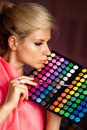 Girl With Eye Shadow For Make-up Royalty Free Stock Image - 17636426