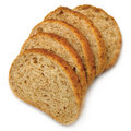 Sliced Bread Slices Stack Isolated Closeup Royalty Free Stock Photos - 17637858