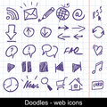Sketchy Web Icons Stock Photo - 17640730