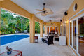 Porch And Swimming Pool Royalty Free Stock Images - 17644589