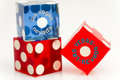 Colorful Las Vegas Dice Stock Photography - 17688092