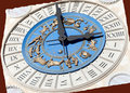 Roman Zodiac Clock Stock Photography - 17691422
