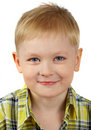 The Portrait Of The Boy Of The Blonde Which Smiles Stock Photography - 1778532