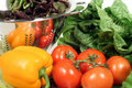 Lettuce, Tomatoes, Pepper And Colander Royalty Free Stock Image - 1779986