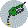 Diesel Fuel Nozzle With Oil Drop Illustration Stock Photos - 17716193