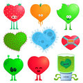 Crazy Hearts Stock Images - 17721244