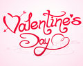 Valentine`s Day Lettering With Abstract Hearts Stock Photos - 17724183