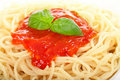 Spaghetti With Bolognese Sauce Royalty Free Stock Image - 17739116