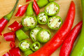 Red And Green Spicy Chili Peppers Royalty Free Stock Images - 17749789