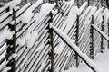 Fence Under Snow Royalty Free Stock Image - 17777626