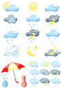 Vector Weather Icons Stock Image - 17778771