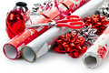 Christmas Wrapping Paper Rolls Royalty Free Stock Image - 17787156