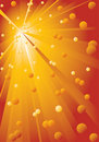Background With Yellow-red Rays. Royalty Free Stock Photography - 17808937