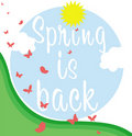 Spring Is Back Banner Stock Photo - 17830770