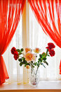 Bouquet Of Roses On Window Sill Stock Images - 17831314