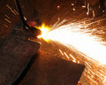 Metall Cutting With Acetylene Welding Stock Photo - 17833900