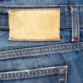Leather Label On Jeans Stock Photo - 17840370