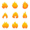 Flame And Fire Symbols Stock Image - 17848221