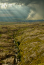 Rocky Hill With Heavy Storm And Creek Royalty Free Stock Image - 17857656