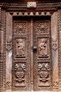 Temple Wooden Carved Door Royalty Free Stock Photo - 17863125