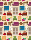 Seamless Furniture Pattern Royalty Free Stock Photography - 17864907