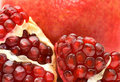 Red Juicy Ripe Pomegranate Fruit Seeds Stock Photography - 17865502