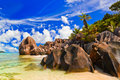Beach Source D Argent At Seychelles Royalty Free Stock Photo - 17868425