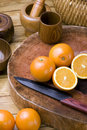 Oranges And Knives Royalty Free Stock Images - 17884689