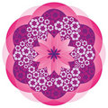 Flower Mandala In Pink Colors Royalty Free Stock Images - 17890909