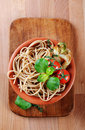 Whole Wheat Spaghetti Royalty Free Stock Images - 17891169