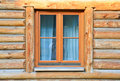 Modern Window In Wood House Royalty Free Stock Photos - 17901698