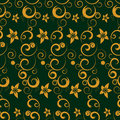 Seamless Pattern With Flowers And Curls Stock Photos - 17903453